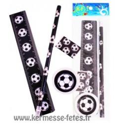 SET PAPETERIE FOOTBALL (4 Pièces)