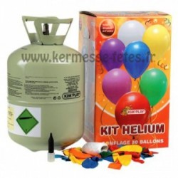 KIT GONFLAGE HELIUM + 30 BALLONS