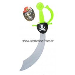 EPEE / SABRE PIRATE 45 cm + CACHE OEIL