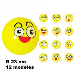 BALLON PVC VISAGES SOURIANTS Ø 23 cm