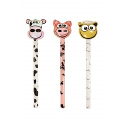 "BATON GONFLABLE "" TETE ANIMAL FERME "" 118 cm"