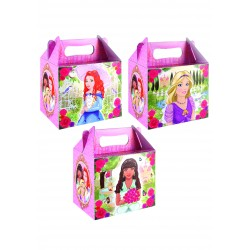 "BOITE CARTON LUNCHBOX "" princesse """