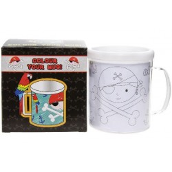 "MUG / TASSE A COLORIER "" PIRATE """