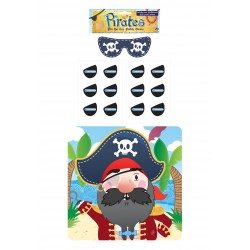 "JEU DE "" COLLE LE CACHE OEIL "" AU PIRATE"