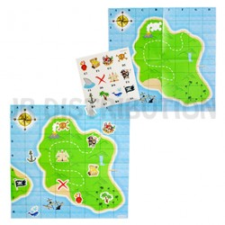 "CARTE AUX TRESORS "" PIRATE "" + STICKERS"