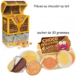 SACHET DE 30gr PIECES EN CHOCOLAT FIZZY