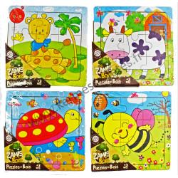 PUZZLE en BOIS 9 PIECES 14.5 x 14.5 cm
